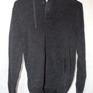 H&M Mens Black Hoodie Sweater